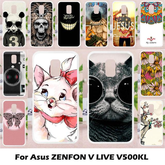 online store 78d38 52328 US $1.26 20% OFF|Ojeleye Silicon Case for Asus ZenFone V Live Case Anti  knock for Asus V500KL Fitted Case Cute Animal Coque Cover Etui 5.0 inch-in  ...