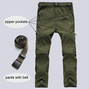 Image 3 - ניילון נשלף עמיד למים טיולים מכנסיים נשים/גברים מהיר יבש מכנסיים הרי/קמפינג/טרקים חיצוני מכנסיים ספורט מכנסיים AW003