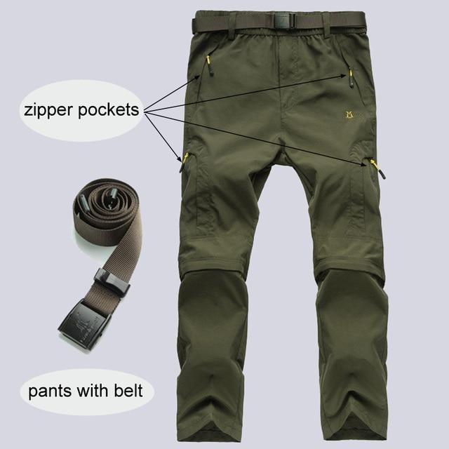 Nylon Removable Waterproof Hiking Pants 4