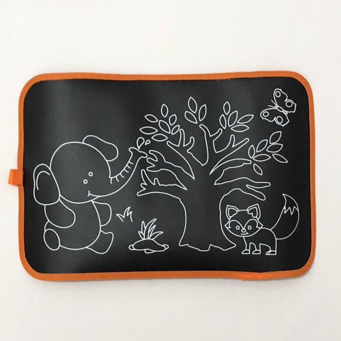 2 стиля детские коврики для рисования и книги детская портативная доска для рисования цветная меловая тканевая книга для раннего образования ребенка - Цвет: Elephant