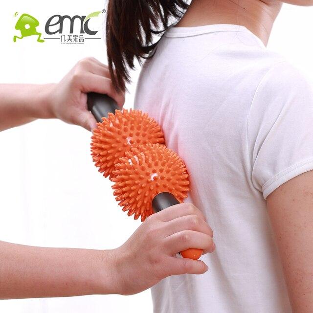 C02 роликовый массаж фитнес-Массаж придерживаться Меридиан здравоохранения Назад Массажер Расслабляющий массаж инструмент