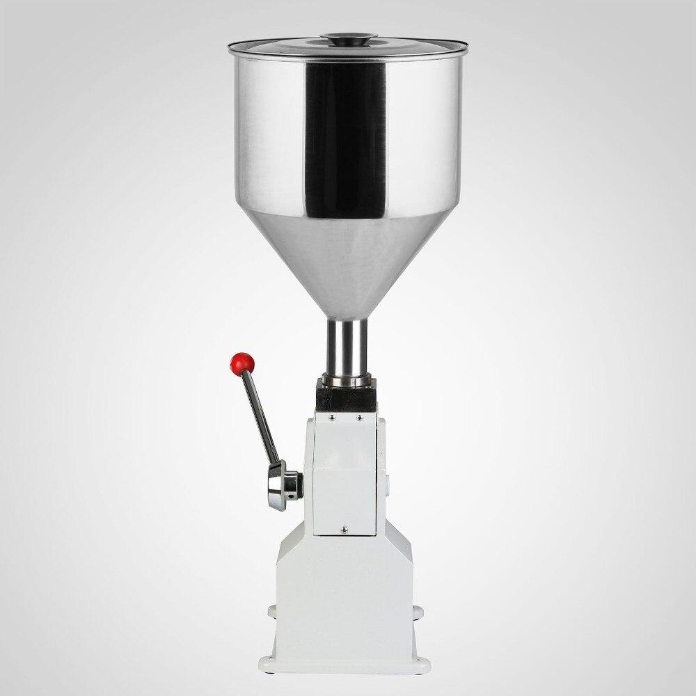 Alimentaire machine de remplissage Manuel main pression inoxydable de distribution de pâte liquide emballage équipement vendu crème machine 0 ~ 50 ml