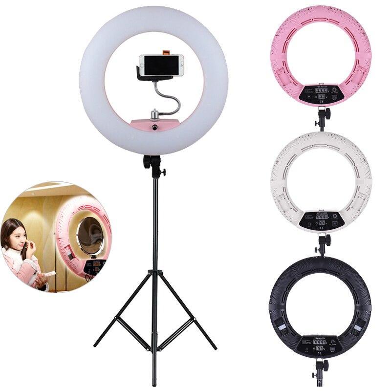 Фотографический светодиодный кольцевой светильник 96 Вт с регулируемой яркостью 3200 5500 K светодиодный светильник для видео с 2 м осветительно