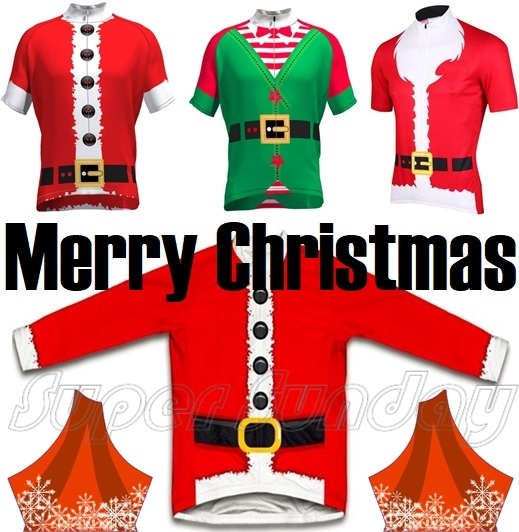 Christmas Cycling Jersey Santa Claus Red Riding Shirt New Year Gift Bicycle  Jerseys Bike Sportswear Free Shipping SANTA3 5cee20921