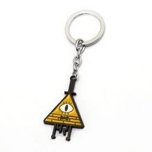 ФОТО hot film gravity falls bill keychains metal pendants nothirdtime car bags key chain gravity falls men key chain souvenir hc12299