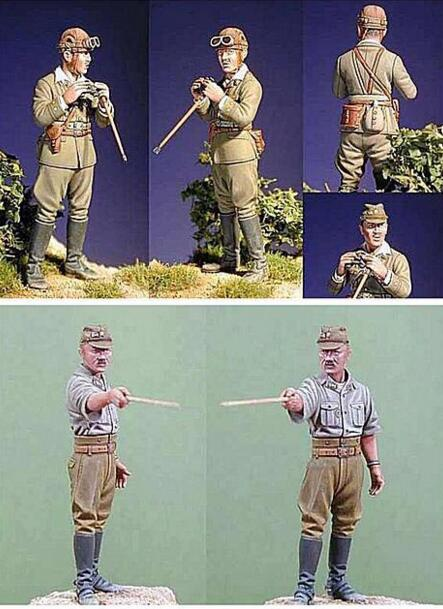 1/35 Resina Figura Soldados Japoneses 2 pçs/set Kits Modelo