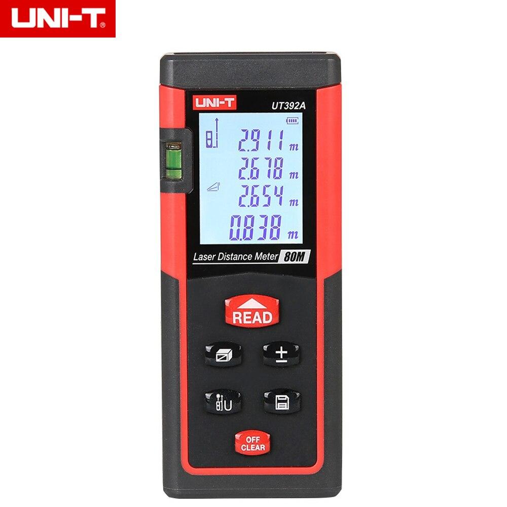 UNI-T UT392A 80 м Ручной цифровой лазерный дальномер Диапазон измерения искатель область/Объем Инструмент