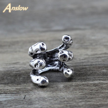 Anslow New Design Fashion Jewelry Charms Rings Vintage Unique Silver  Men Male Women Party Ring Valentines Day Gift LOW0026AR