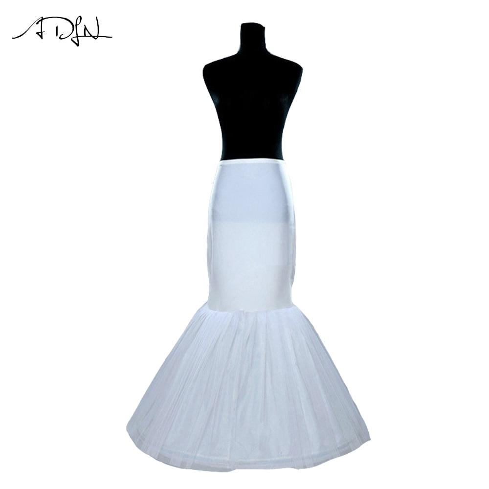 ADLN 2017 Cheap White Mermaid Wedding Petticoats Bridal Petticoats Wedding Accessories