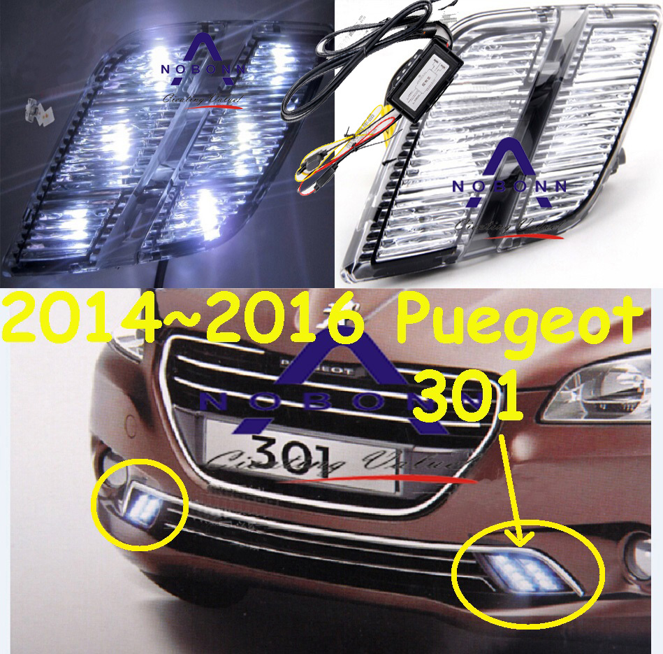 цены Car-styling,301 daytime light,2014~2016,LED,Free ship!2pcs,car-detector, 301 fog light,car-covers,301 508,308,207,206,3008
