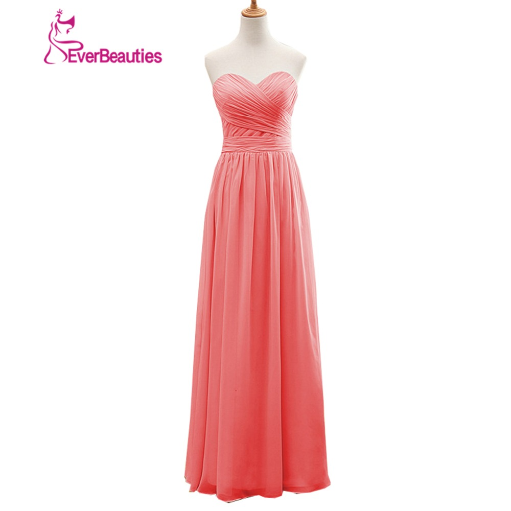 Coral Colored   Bridesmaid     Dresses   New Real Pictures A-Line Sleeveless Sweetheart Customize Backless Long Red   Bridesmaid     Dress