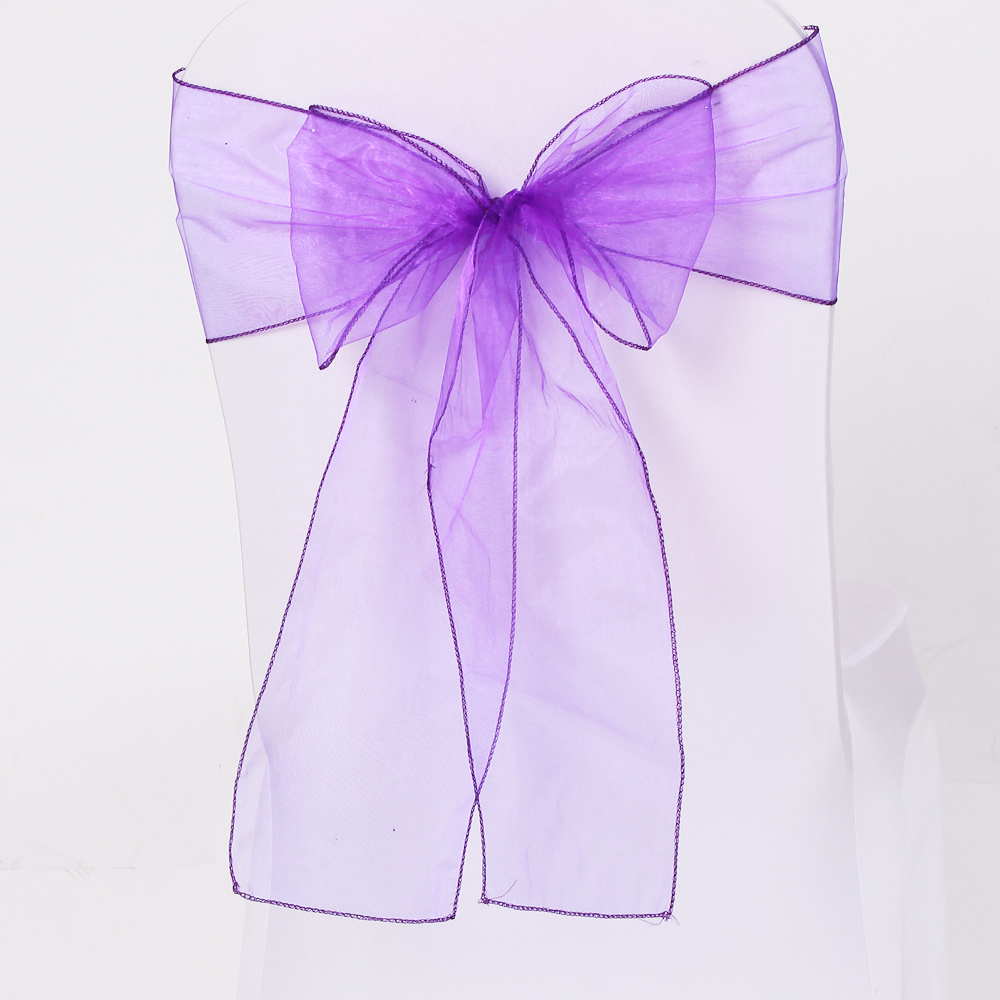 high quality organza chair sashes bow tie in 20 colors organza