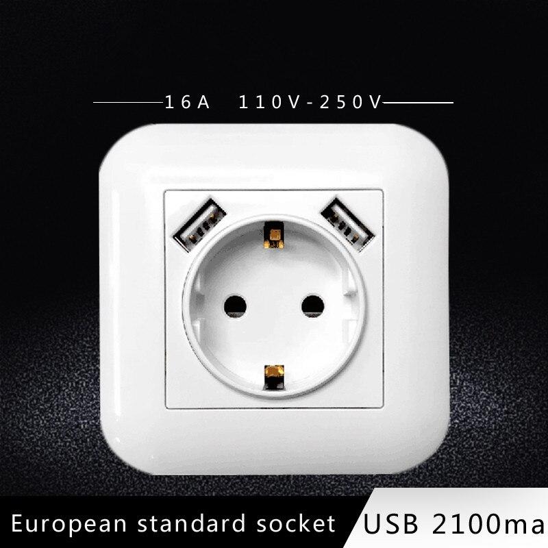 European EU Norme Allemande 250 V 16 A 1 Gang Prise D/'alimentation unique Plug Prise murale