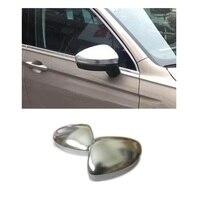 For Volkswagen VW Tiguan MK2 2017 2018 Matt Chromed Side Door Mirror Wing Mirror Cover Replacement