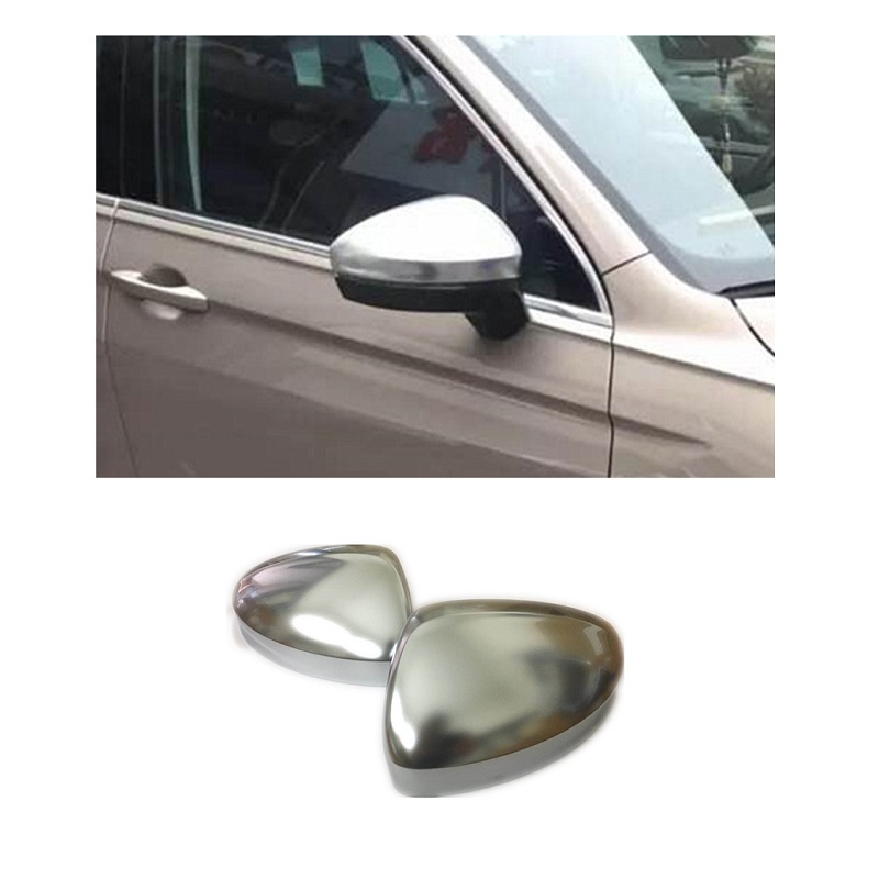 For Volkswagen VW Tiguan MK2 2017 2018 Matt Chromed Side Door Mirror Wing Mirror Cover Replacement Car Styling Accessories car rear trunk security shield cargo cover for volkswagen vw tiguan 2016 2017 2018 high qualit black beige auto accessories