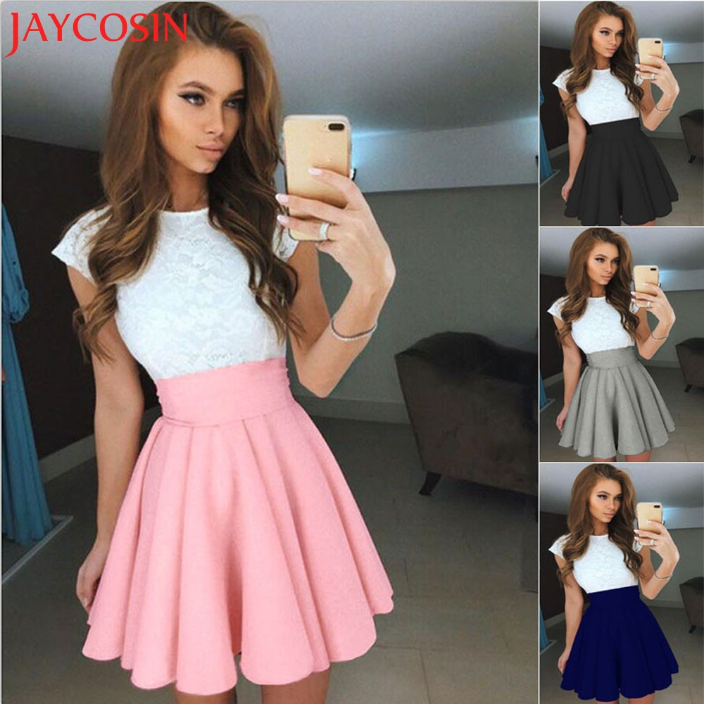 JAYCOSIN 2017 Womens Party Cocktail Mini Skirt Ladies Summer Skater Skirt Y7629