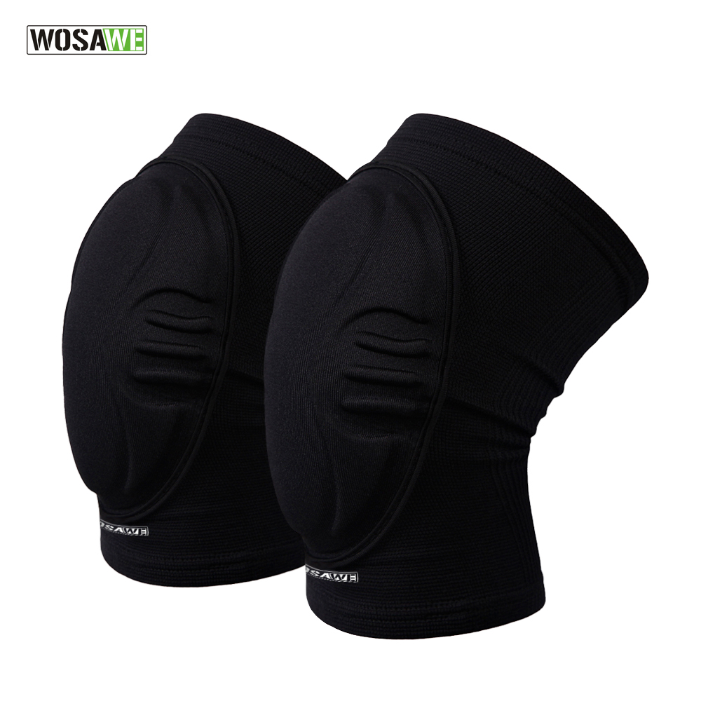 WOSAWE Two Pieces Skiing oalkeeper Soccer Football Volleyball Extreme Sports knee <font><b>pads</b></font> Protect Cycling Knee Protector Kneepad