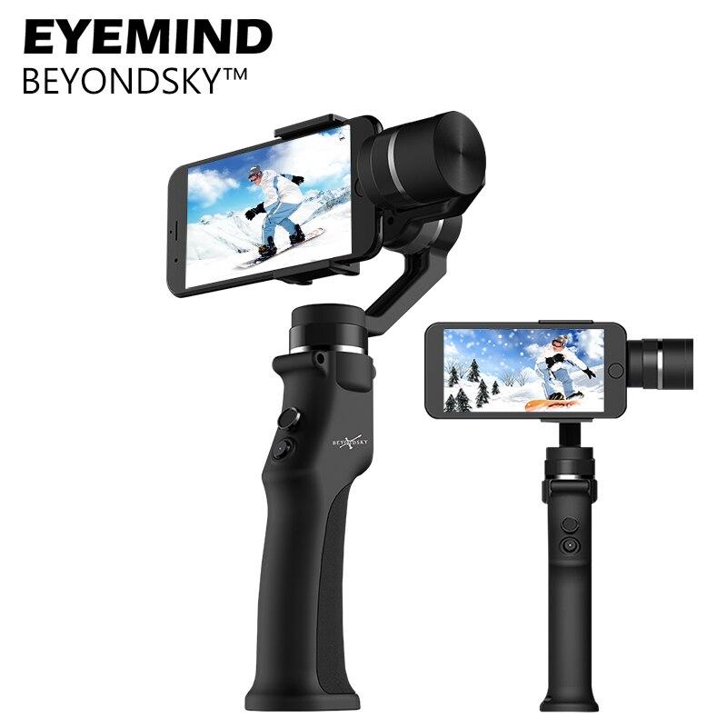 EYEMIND 3-eje de Smartphone del cardán estabilizador del Zhiyun Suave 4/Q/Modelo para iPhone X 8 Plus 8 7 Android Cámaras Deportivas