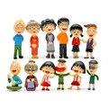 12 Unids/set Kawaii Mini Historieta Del Anime Chi bi Maruko Figuras Juguetes de PVC Figura de Acción Juguetes Para Niños Regalos de Navidad