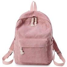 dc17028a2c41 Розовый Женский Рюкзак Kanken Путешествия Рюкзак из мягкой ткани женские  вельветовые портфель для девочек-подростков
