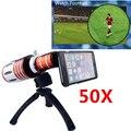 Apexel 1 unid súper 50x HD zoom óptico lente del telescopio para el iPhone 6 teléfono móvil teleobjetivo w / case y trípode CL-48IP655