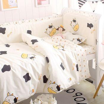6/9 шт корова ребенок сна более удобный хлопок детская защита для кроватки детские постельные принадлежности детское одеяло лист protetor de berço