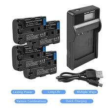 4x NP-FM50 NP FM50 FM30 FM55H NPFM50 Battery+LCD USB charger For Sony Alpha A100 DSLR-A100 A100K CCD-TRV408 DCR-PC105 L20