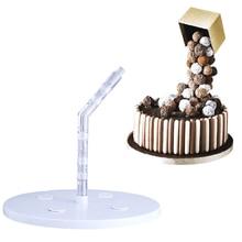 Креативная пищевая пластиковая подставка для торта, поддерживающая структура, практичная форма для украшения шоколада, торта, инструменты для выпечки DIY