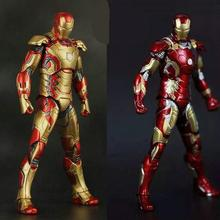 NEW Hot ! 18cm Movie Iron Man 3 Action Figure Superhero Mark 42 43 avengers movable alliance Toys Christmas gift Collectors