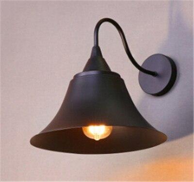 ФОТО personality black/rust iron cap decorative wall light American retro wall lamp A132