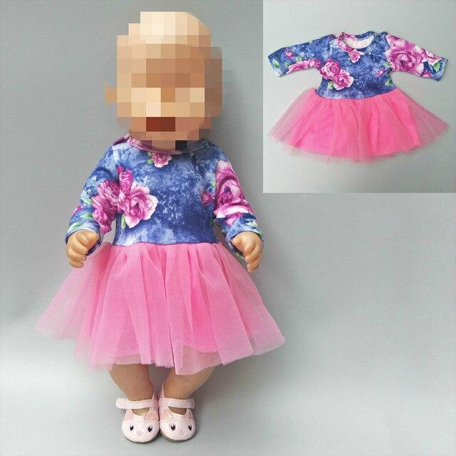 """Para 43 centímetros bonecas roupas vestido camisa de renda para 18 lastic """"roupa da boneca bebê calças para 18 polegada menina boneca presentes do bebê"""