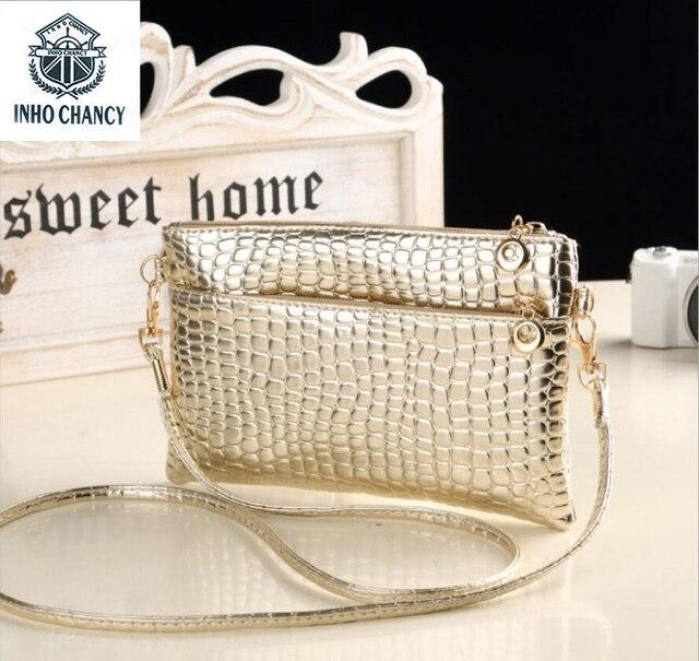2017 Neck Wallet Handbags Women Wedding Clutches Ladies Crocodile Pattern Party  Purse Famous Designer Shoulder Messenger