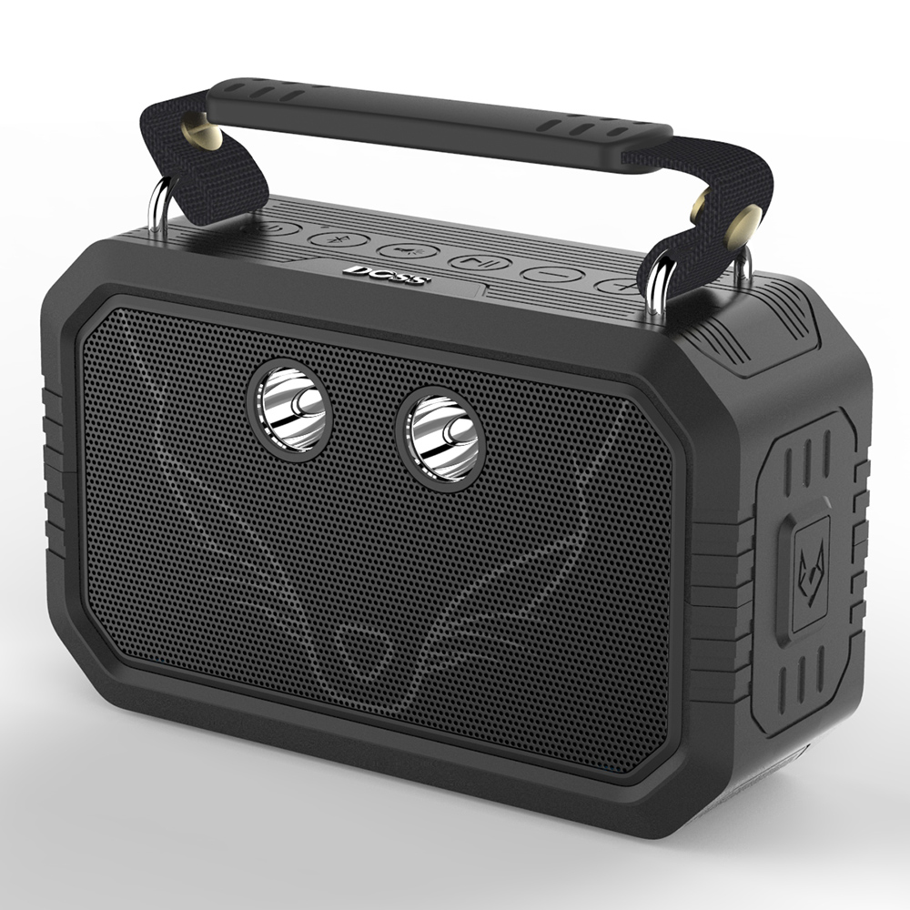 DOSS Waterproof <font><b>Bluetooth</b></font> Speaker,IP66 waterproof Shockproof Dustproof <font><b>bluetooth</b></font> with 3W flashlight and 20W bold ,12H playtime.