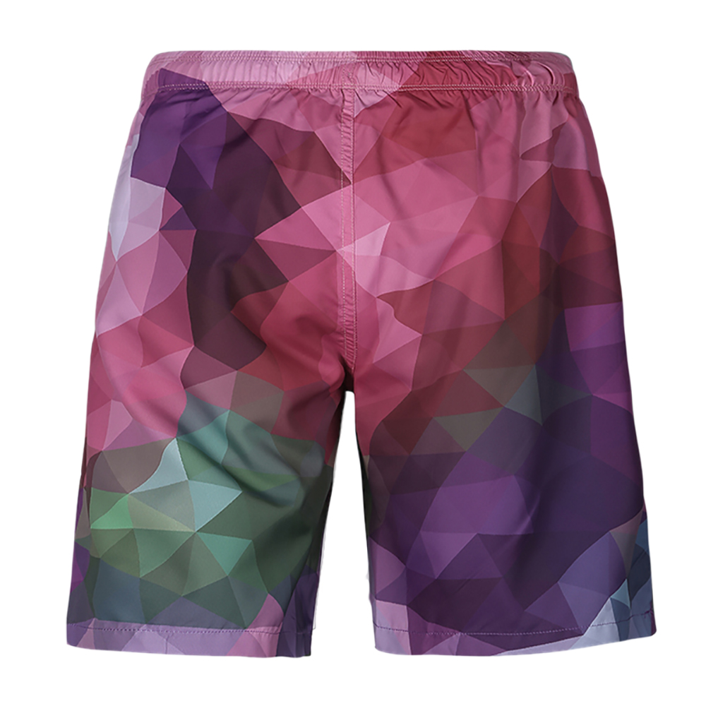 Geometric Beach Swimming   Short   Pockets Quick Dry Surfing Men's   Board     Shorts   Plaid Lining Liner Patchwork Sport Workout   Shorts