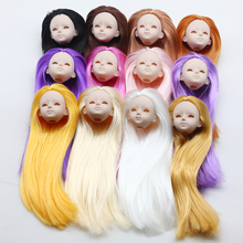 1PC Soft Plastic Practice Makeup DIY Doll Head For 30cm Heads 1/6 Kurhn BJD Dolls Practicing Without