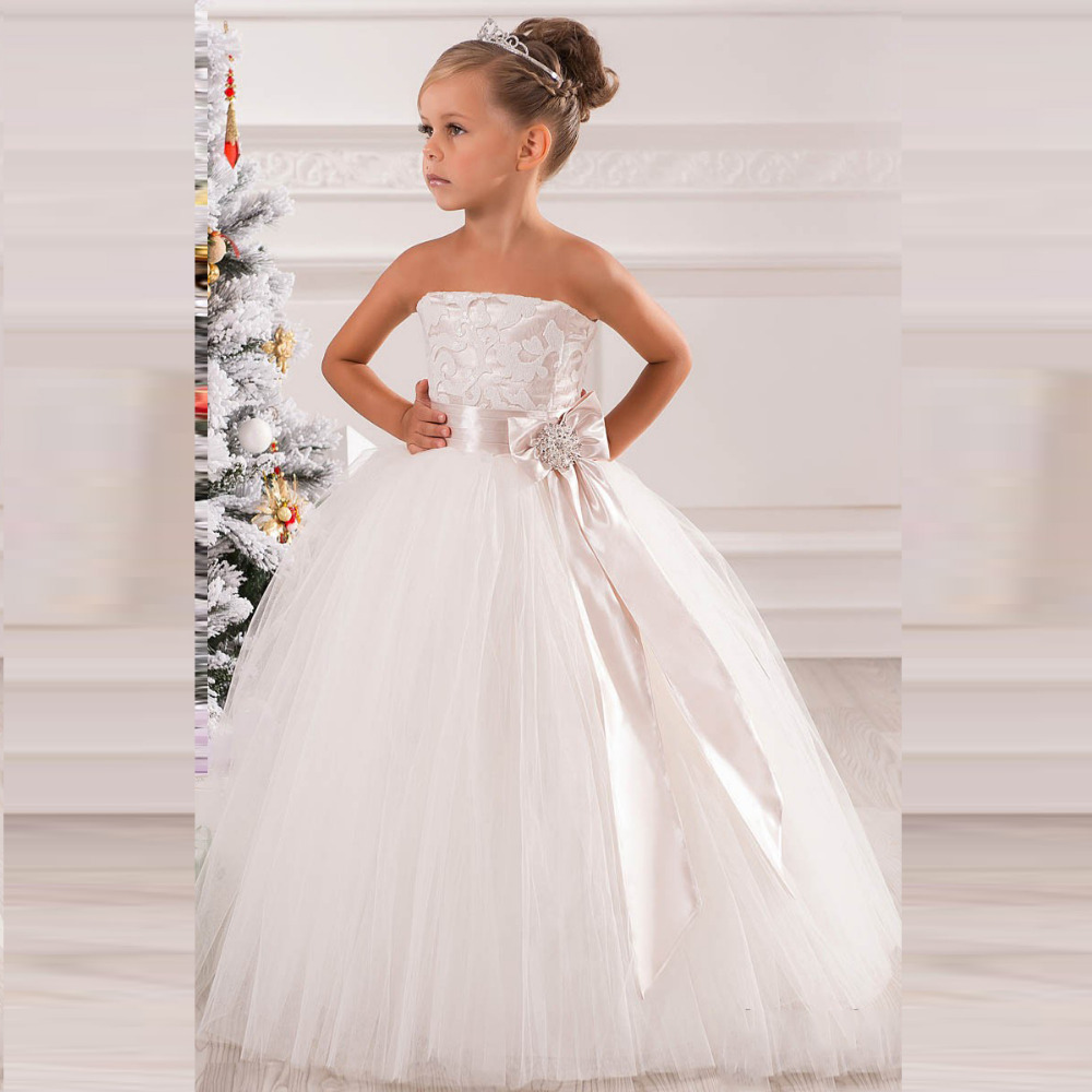 Popular Little Girls Strapless Dresses-Buy Cheap Little Girls ...