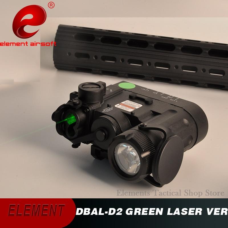 Airsoft Element DBAL D2 IR Laser Weapon Gun Light Green Laser DBAL EMKII Tactical Flashlight DBAL