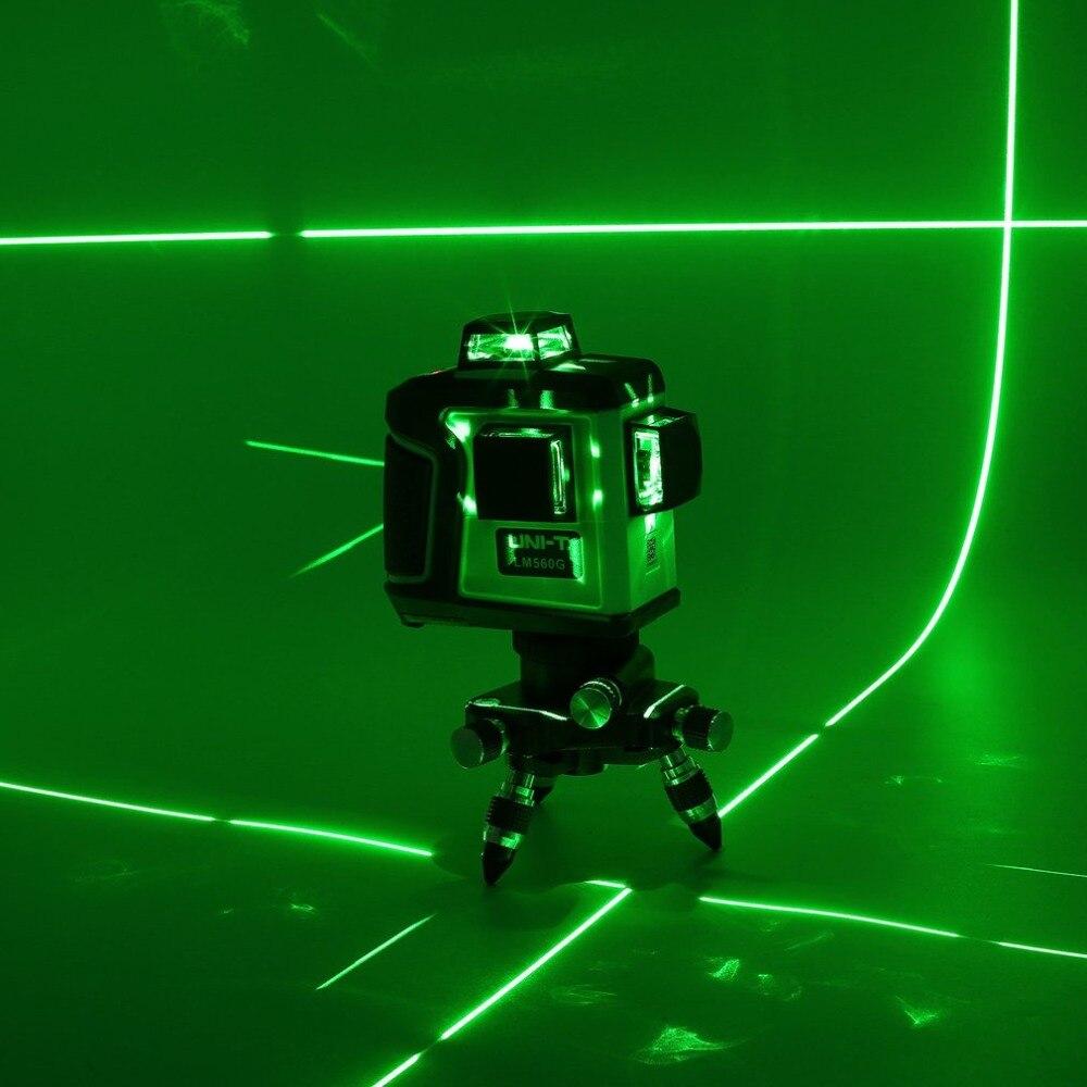 UNI-T LM560G 12 линии LD зеленый свет сенсорный уровень Высокая точность Лазерный датчик уровня с большой ёмкость литиевых батарея