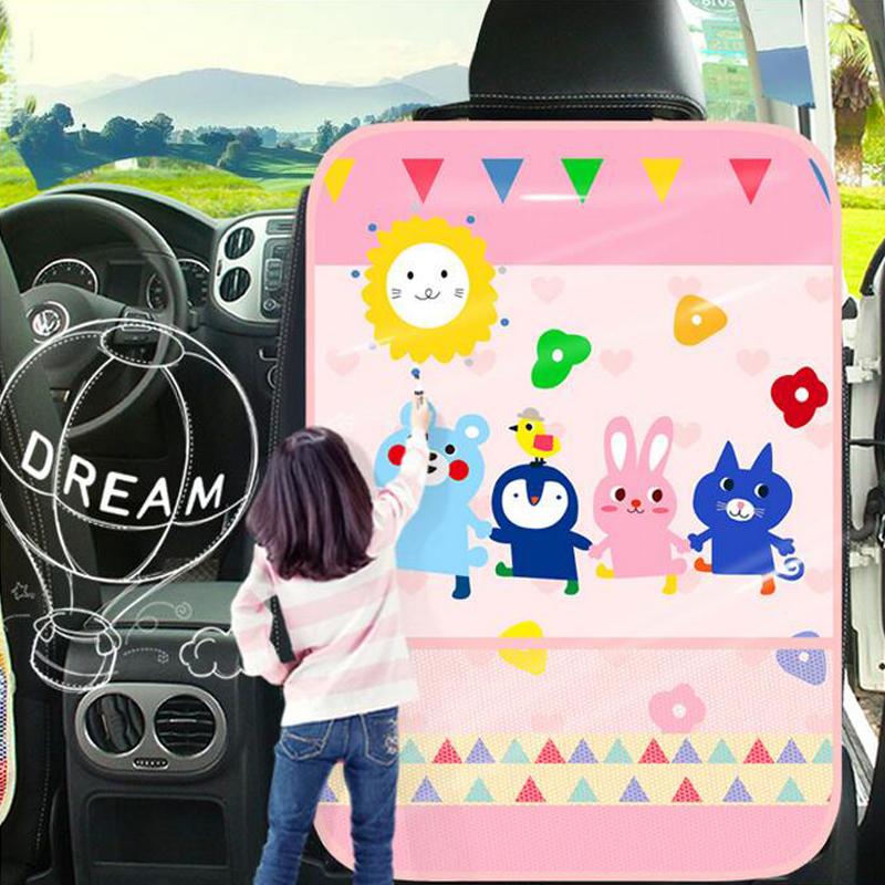 Car Auto Seat Back Protector Cover For Children Kick Mat Storage Bag Car Styling Back Car Seat Cover Waterproof Organizer Holder