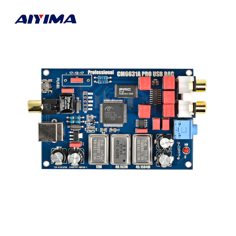 2017 CM6631A Digital interface 32 / 24Bit 192K Sound Card USB to I2S / SPDIF Coaxial Output Support Connect Decoder Upgrade DAC