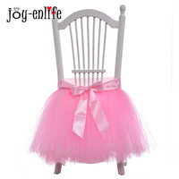 JOY ENLIFE 1pc Tutu Tulle Table Skirts Home Textiles For Birthday Party Decoration Baby Shower Wedding