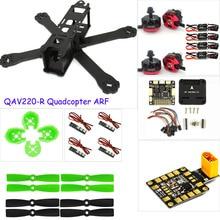 PK rc avión de fibra de Carbono de BRICOLAJE mini drone 220 220mm marco quadcopter para QAV-R 220 + F3 Regulador de Vuelo emax RS2205 2300KV Motor