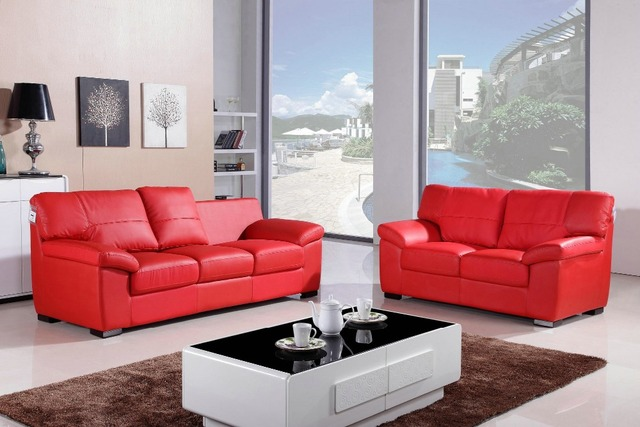 US $1350.0 |Lizz Red Couch Sectional Sofa Genuine Leather Sofa-in Living  Room Sofas from Furniture on Aliexpress.com | Alibaba Group