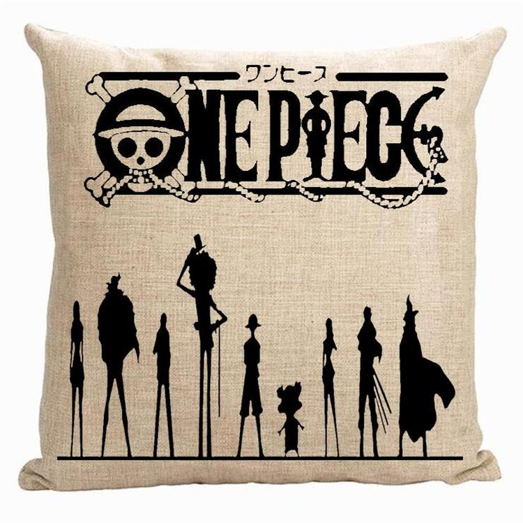 one piece pillow cover cute japanese cartoon animation one piece monkey d luffy throw pillow cover pillow case