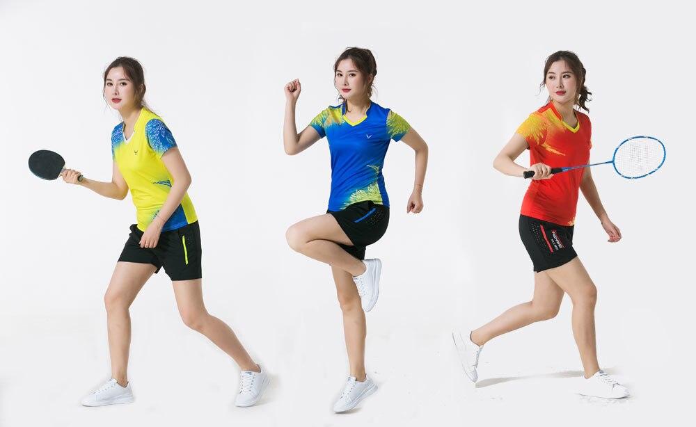 uniformes de tênis de mesa curta-mangas compridas-secagem rápida t-shirt da aptidão