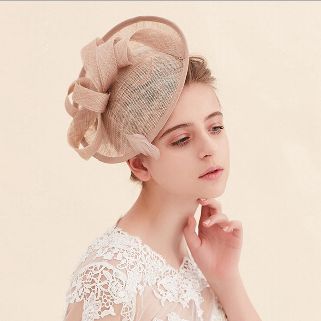 Hot joyería de la novia sombrero retro gasa Lino Continental Inglaterra tapa