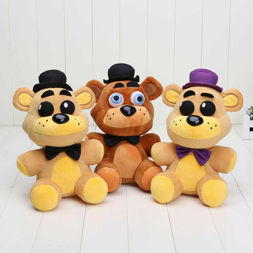 25 cm fnaf brinquedo de pelúcia Cinco Noites No luxuoso Dourado do Freddy Freddy Fazbear Mangle bonnie foxy Stuffed Boneca Brinquedos local da irmã