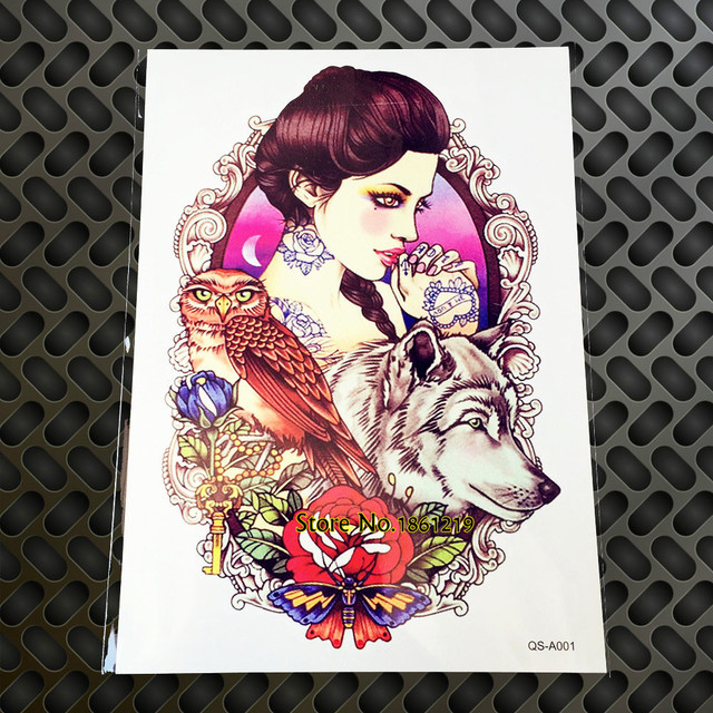 1pc 3d Large Waterproof Temporary Tattoos For Men And Women Gqs A001