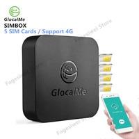 GlocalMe SIMBOX 4 г 5 sim-карт адаптер WiFi роутер с микропроцессором устройство мульти-sim-карты коробка для IOS/Android Поддержка 2 г/3g/4 г сеть