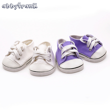 Abbyfrank Cute Doll Shoes For 18 Inch Baby Born Doll Handmade Sneakers American Girl Clothes Doll